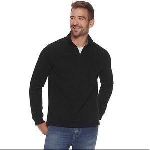 Men's Apt. 9 Polished Fleece Zip Pullover